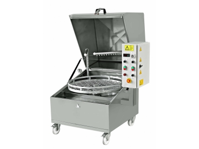 Top Loader Spray washers, spray cabinet industrial spare parts washer cleaning machine, top loader washer, parts cleaning machine, automotive part washer manufacturer. YM-850/1000 Rotating Basket Shock Absorber Parts Washing Machines
